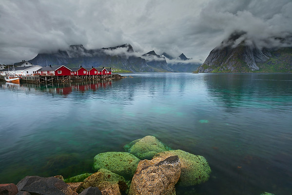 Norway. Image of Lofoten Islands, Norway during stormy weather.