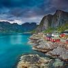 Hamnoy. Image of Lofoten Islands, Norway during beautiful sunset.
